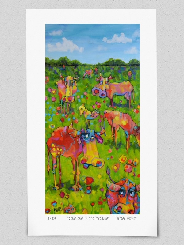Quot Cows Are In The Meadows Quot Limited Edition Print