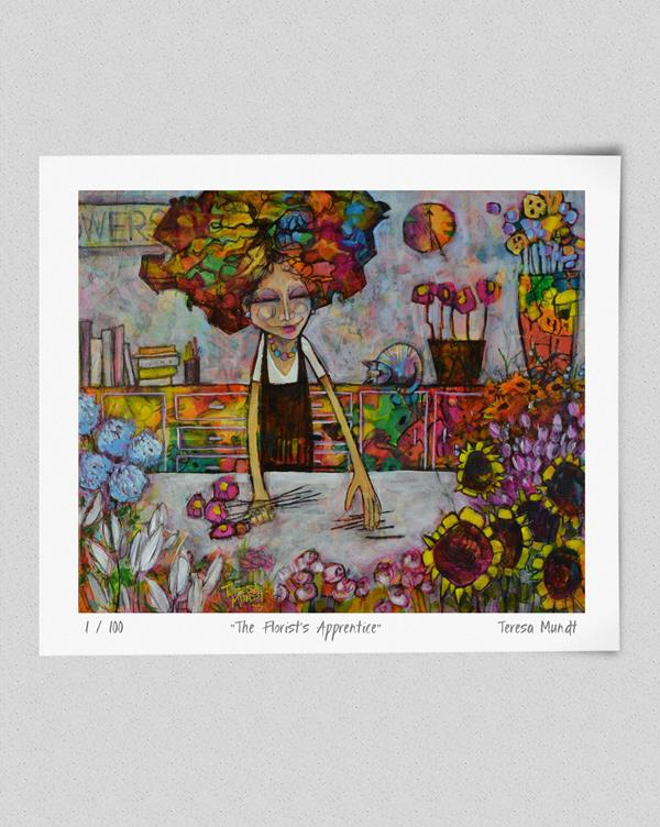 Quot The Florist S Apprentice Quot Limited Edition Print