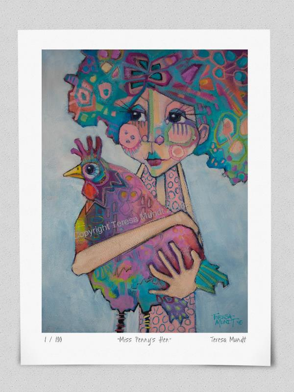 Quot Miss Penny S Hen Quot Limited Edition Print